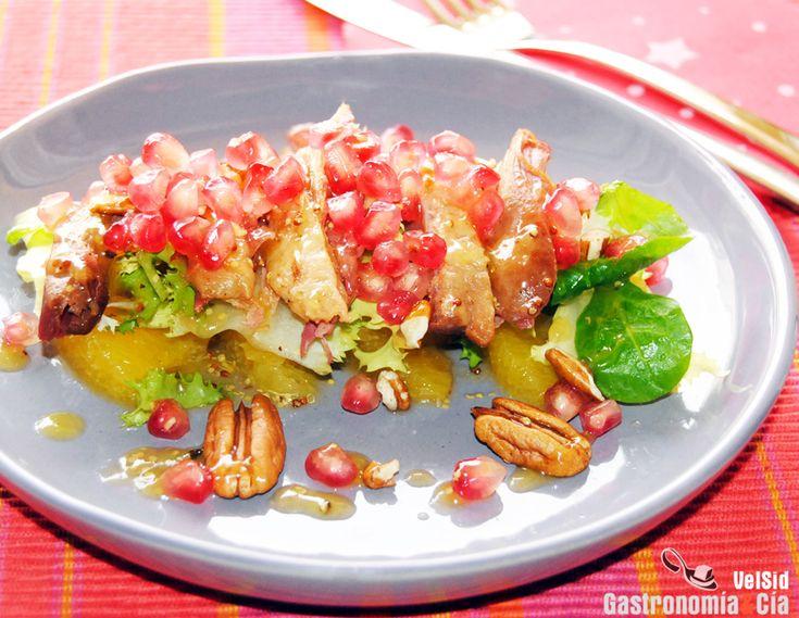 Ensalada de confit de pato, naranja y granadahttp://www.gastronomiaycia.com/2013/12/02/ensalada-de-confit-de-pato-naranja-y-granada/