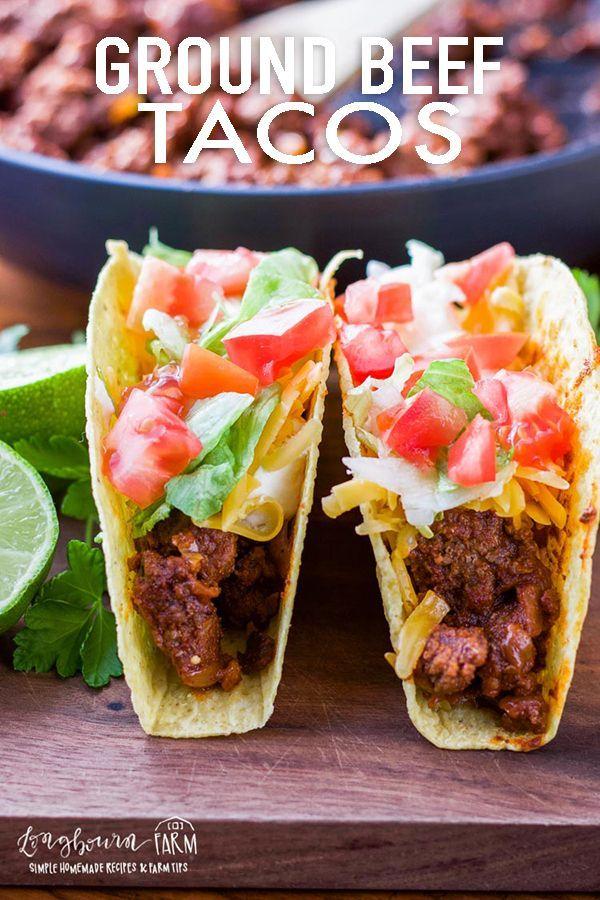 Ground Beef Tacos Longbourn Farm Recipe Tacos Beef Ground Beef Tacos Beef Recipes