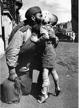 Russian soldiers returned to the devastation .... bare earth .... He had just defeated fascism ... all belongings - a haversack ... his son does not even have shoes ... And after 16 years, we conquered space.