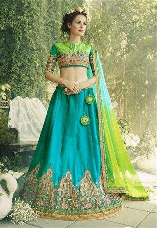 625168c2a4 Sky Blue Crepe,Silk Wedding Designer Flared Lehenga Choli #Bridal Lehenga  Choli #BridalLehenga #LenghaCholi #WeddingWear #BridalWear #sale #dress # Lehenga ...