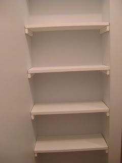 DIY closet shelves idea- brilliant for a small nook! Spare Bedroom closet