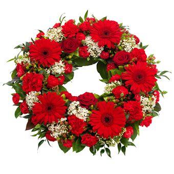 Floristen designer - krans fra Euroflorist. Om denne nettbutikken: http://nettbutikknytt.no/euroflorist-no/