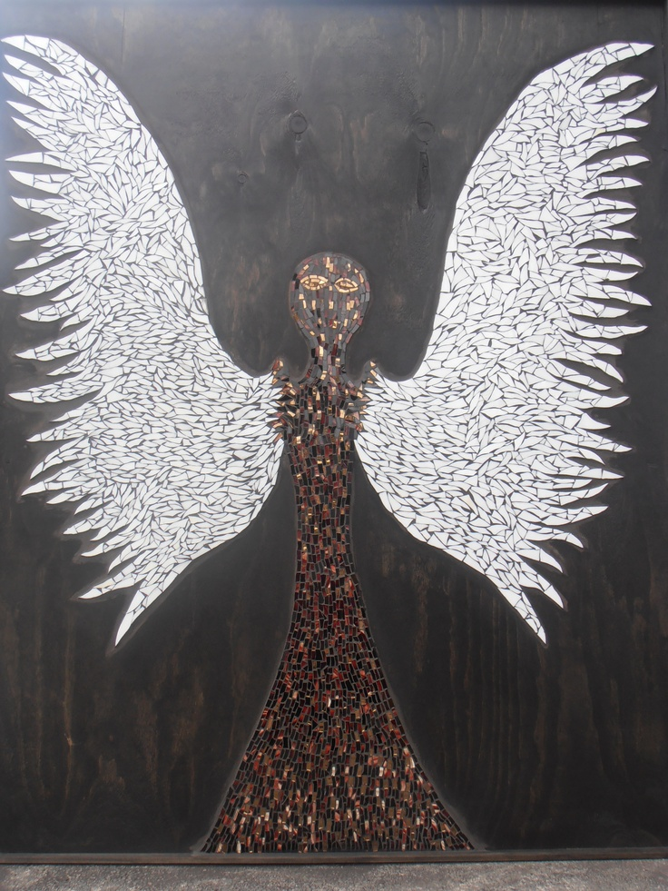 1.8m's High 1.2m's wide, made by myself, stained glass on plywood with a pigmented stain background.