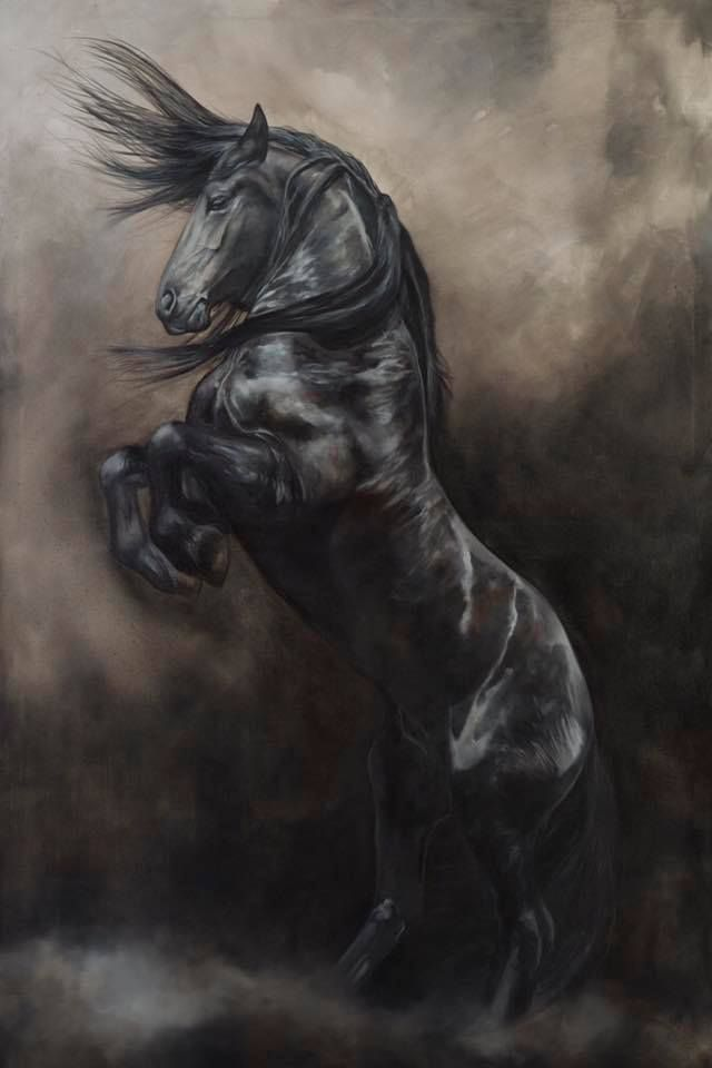 'WindStorm' Fine Art Giclee Prints by Tony O'Connor Equine Art
