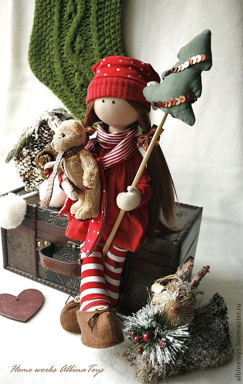 Weihnachtsmädchen. Lovely handmade doll, Perfect for Christmas!!