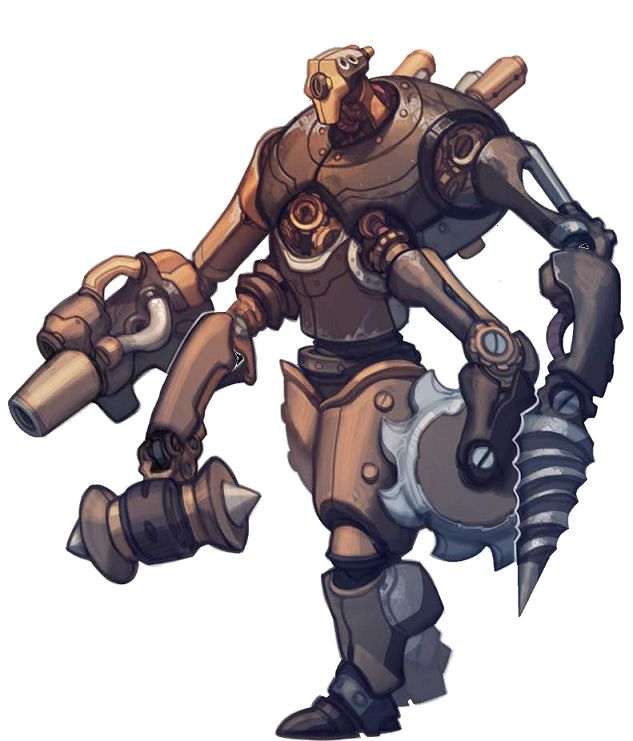 clockwork goliath Golia meccanico - by Andrew Hou Jason Bulmahn, //**Pathfinder Roleplaying Game - Bestiario 3**//, Paizo Publishing, **2011**