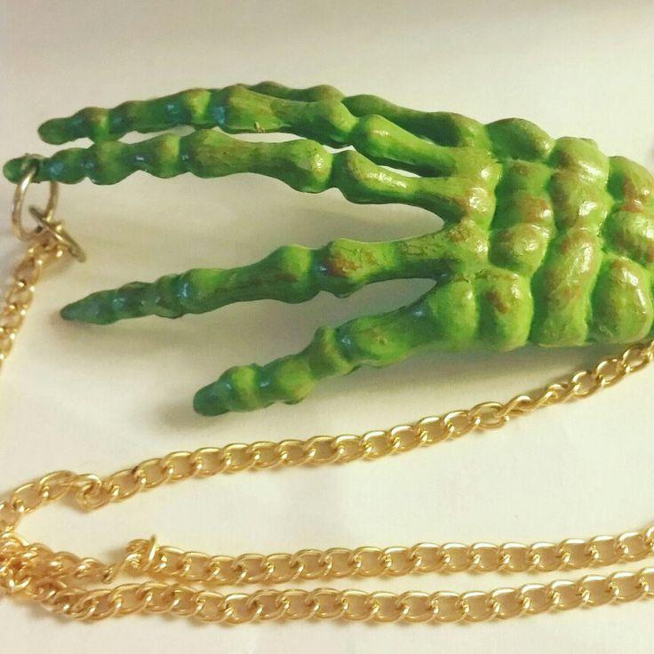 Zombie Hand Necklace *Horror jewelry