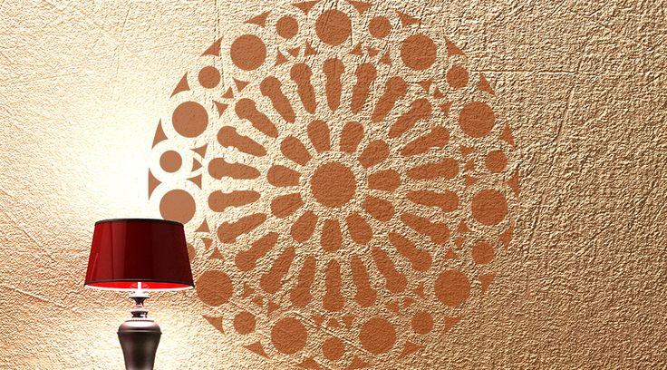 stencil roset n mandala para decorar paredes y muebles de
