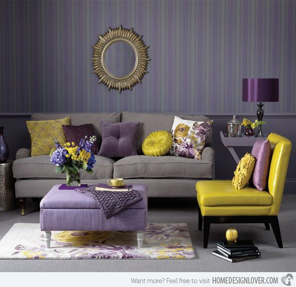 Love the grey on the wall...wonder if that couch is comfy? I'd add pops of other colors. Marks Spencer
