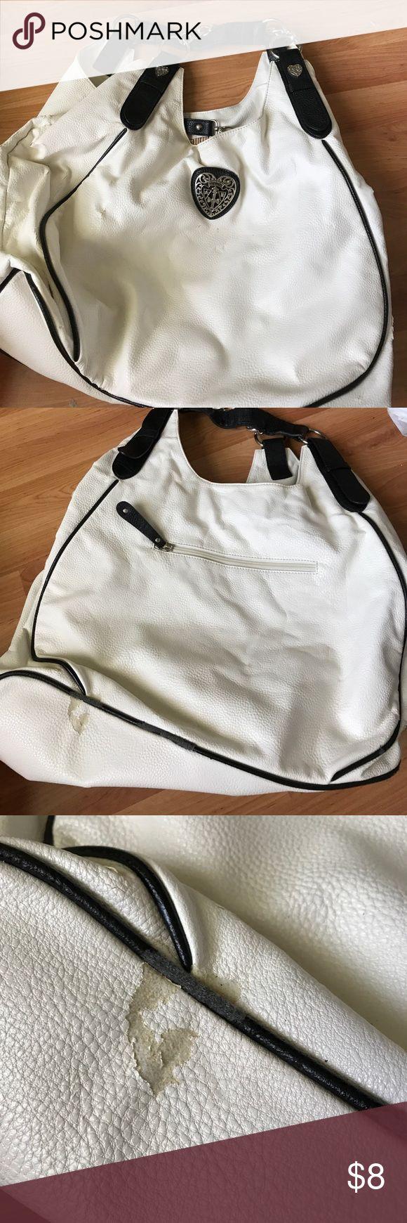 Black and white purse Black and white large handbag Bags