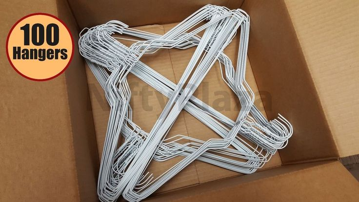 """Check out #Wire_Hangers #Pack of #100 #Extra_Wide 18"""" Brand New **No Rust Coating** 14.5 Gauge  #Generic"""