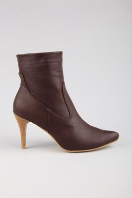 NEW Rubi / Cotton On Ladies Chocolate Brown Hi Ankle Boots - Size 39 / 8.5 - 9