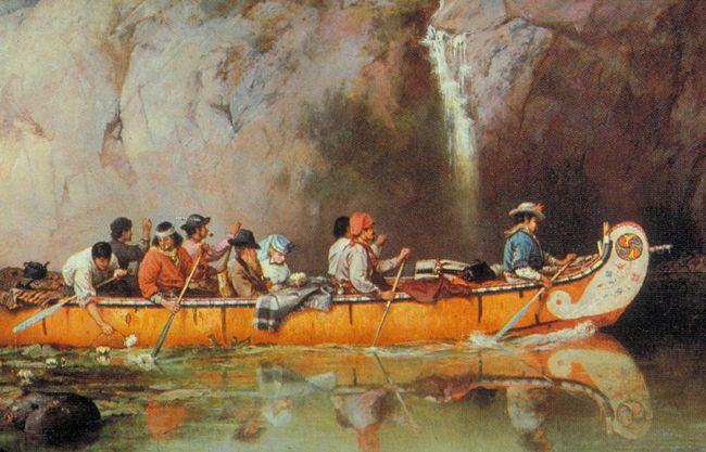 Hudson's Bay Company Fur trade canoe Artist - Frances Anne Hopkins, artist, Montreal