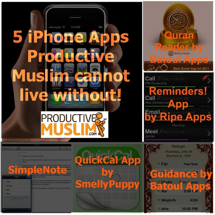 5 iPhone Apps ProductiveMuslim cannot live without! (by @Productive Muslim)  Click on the link to know more about each app! (apps ranging from $0.99 to 2.99)  http://productivemuslim.com/5-iphone-apps-productivemuslim-cannot-live-without/