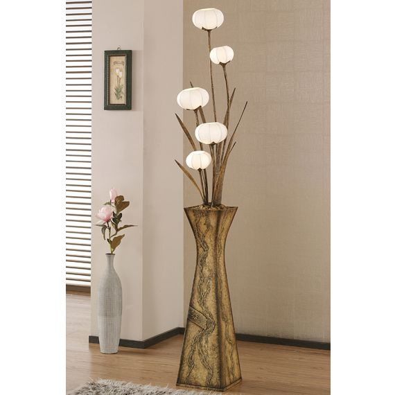 Paper Floor Lamp Shade with Five Flower Bud Lantern Lights - Antique Alive - Best 20+ Paper Floor Lamp Ideas On Pinterest Lighting Products