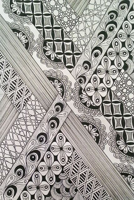 Judy's Zentangle Creations: Pebbles step by step