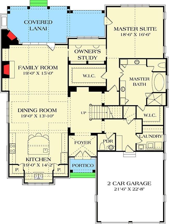 Two Story 5 Bedroom Tudor Mansion Floor Plan In 2020 How To Plan Floor Plans House Floor Plans