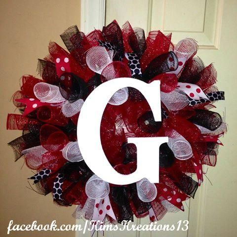 Georgia bulldog's wreath