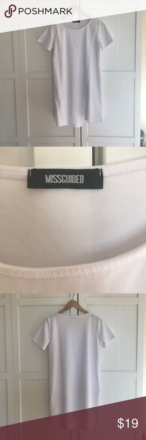"""Missguided - White Ponte Wrap Shift Dress White dress with a chic ponte wrap feature - shift style - high wearability and versatile style - style with ankle boots, or, for more of an evening finish, team with barely there heels - length is approximately 35"""" - machine washable - size 10 - made by Missguided Missguided Dresses Mini"""