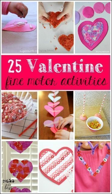 These Valentine's Day Fine Motor Skills Activities for Kids are simple to set up and will provide fine motor practice in a fun way with a Valentine's twist! #Valentine #preschool #finemotor