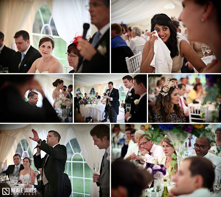 Speeches taking place during a wedding reception at Silchester House