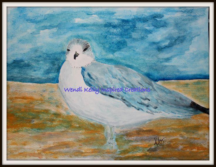 Seagull Watching.  Artist, Wendi Kelly