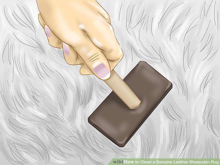 How to clean a genuine leather sheepskin rug sheepskin