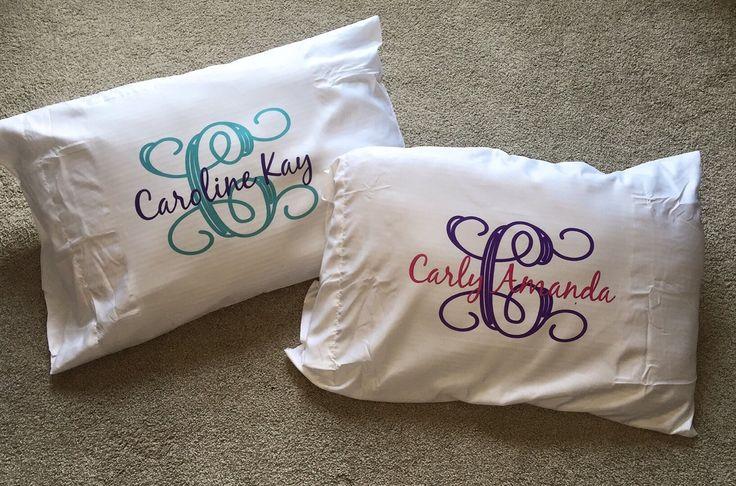 Monogrammed Pillowcase - Custom Pillowcase - Personalized Pillowcase - Pillowcase by LittleBoyLukeDesigns on Etsy https://www.etsy.com/listing/261486050/monogrammed-pillowcase-custom-pillowcase