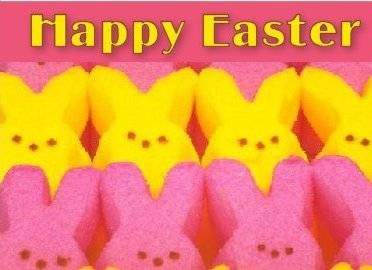 printable Easter Peeps Candy Card