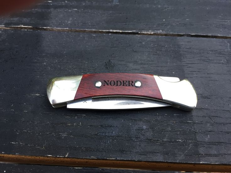 Engraved Buck pocket knife