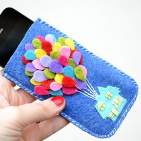 A tutorial to make an iPhone case inspired by the amazing movie UP by Pixar!