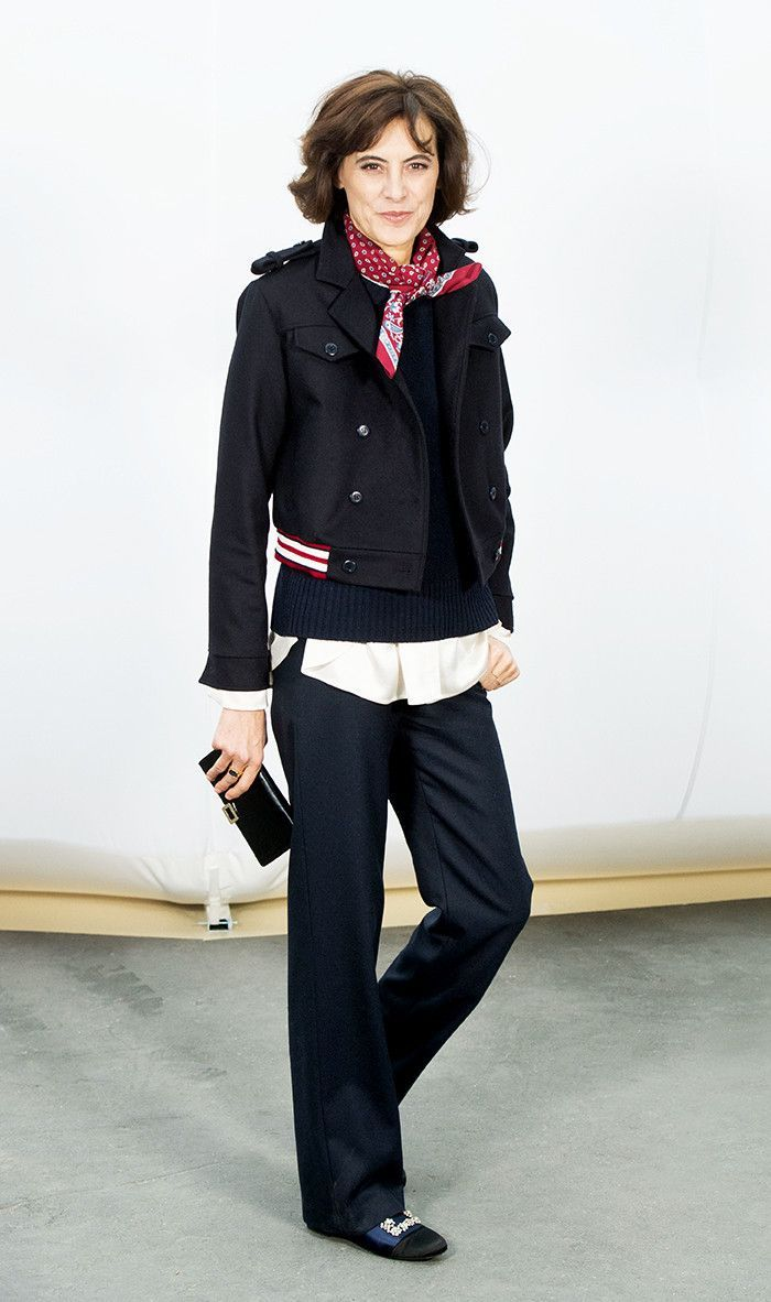 Leading #styleicon, Ines de la Fressange always gets it right!  Get 40+ #style support at www.WorkingLook.com #maturista