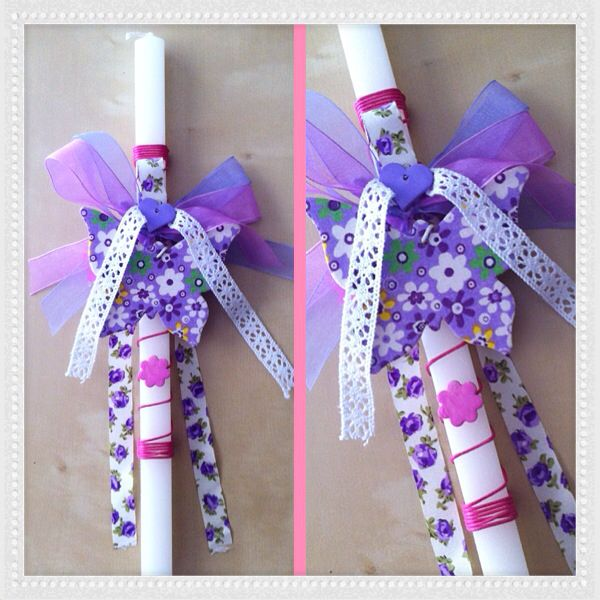 Easter Candle by Stella Handcrafts! | Πασχαλινή Λαμπάδα