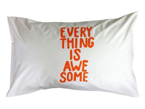 EVERYTHING IS AWESOME Pillowcase - Orange