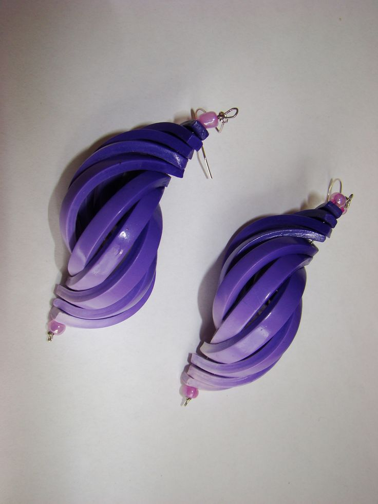 Polymer clay earrings https://www.facebook.com/Anna-Donna-%C3%A9kszer-231340573715505/