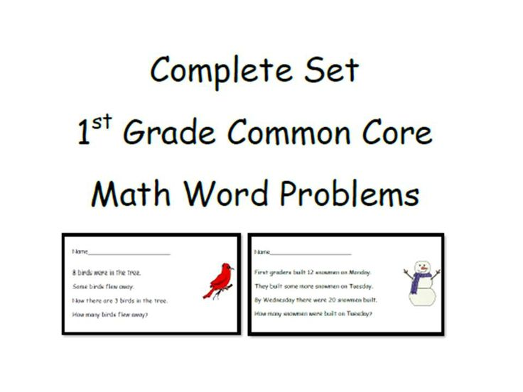 1st grade math word problems common core
