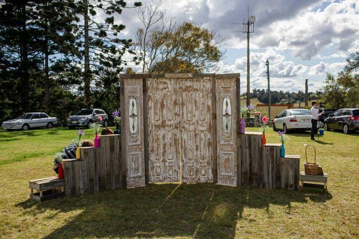 Rustic Wedding door entrance