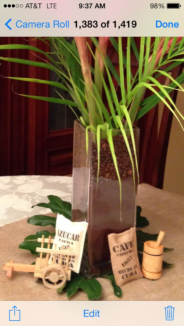Cuban Party Centerpieces