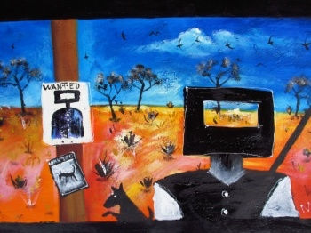 Nicholas Broughton Ned Kelly Art Painting Series 2012