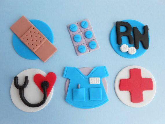 Nurse Cupcake Toppers 2 Dozen by FunkyMonkeySweetShop on Etsy, $30.00