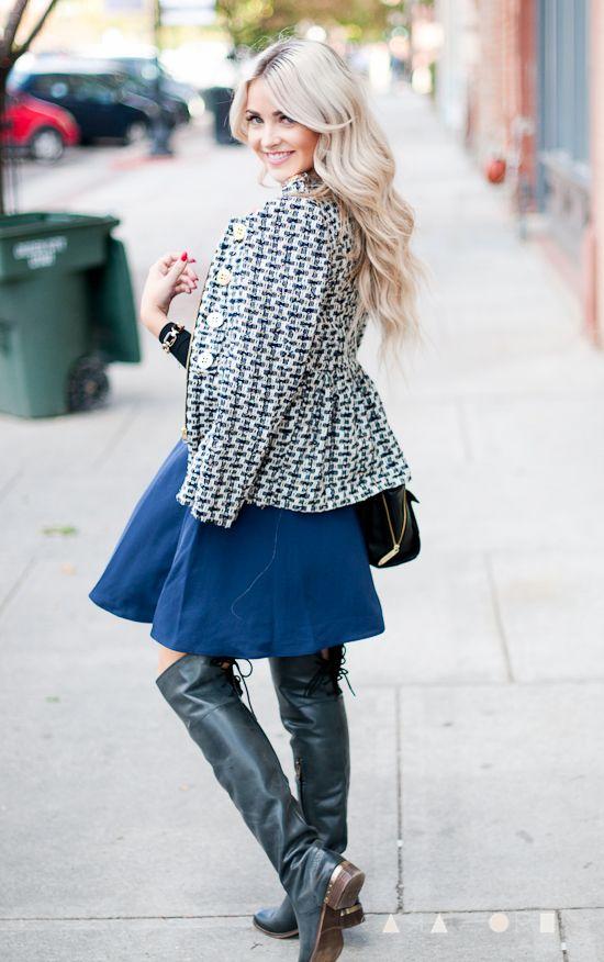 jacket: c/o Spiegel top: c/o Windsor skirt: Phillip Lim for Target boots: c/o MIA Shoes bag: Phillip Lim for Target bracelet: c/o Cents of Style