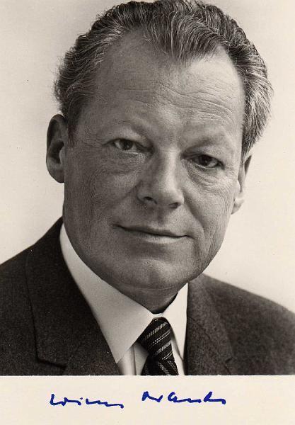 Der VIERTE Deutsche Bundeskanzler und Friedensnobelpreisträger (10. Dezember 1971): Willy BRANDT (SPD) 1969 -1974.
