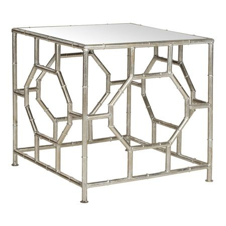 Display A Vase Of Fresh Flowers Or Rest Your Evening Cocktail On This Chic  Accent Table. Mirrored Accent TableMirrored Side ...
