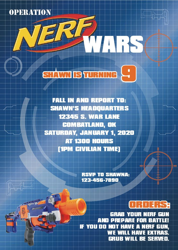 10 best Nerf inspired party - supplies to order images on ...