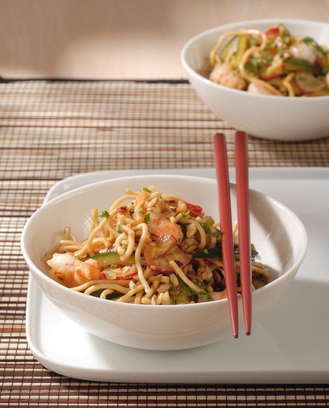 Σαλάτα με καραβίδες και noodles ρυζιού