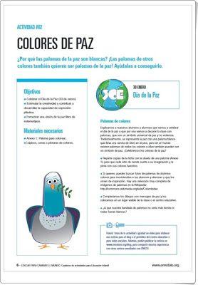 """""""Colores de Paz"""" (Educación Infantil). Unicef."""
