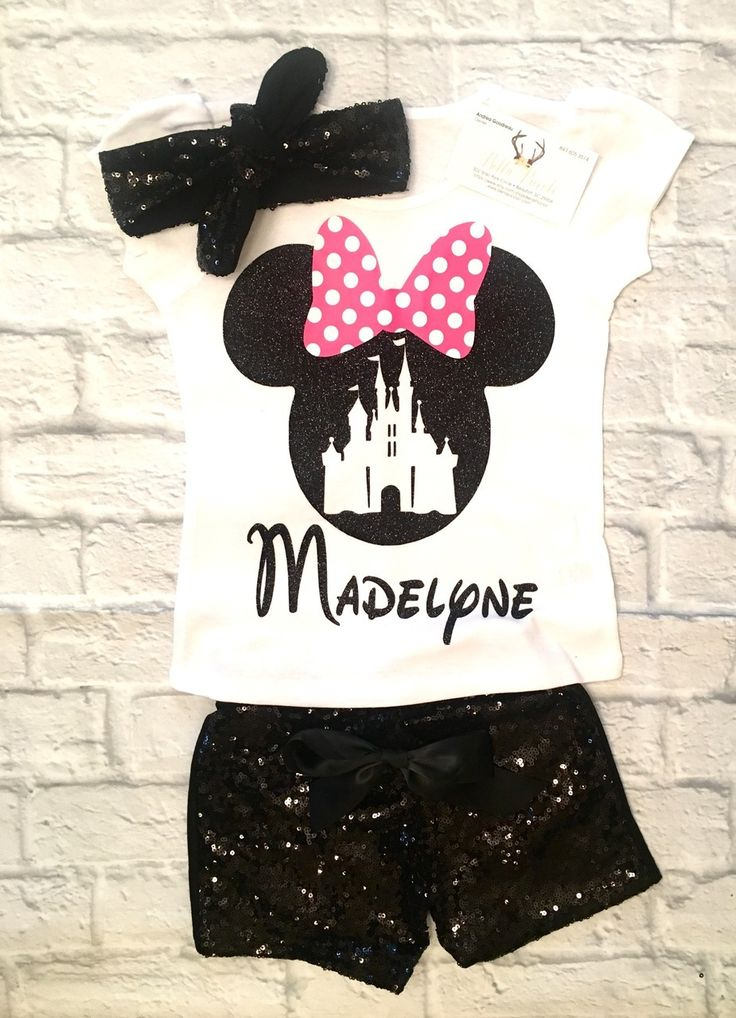 Girls Clothing, Girls Disney Clothing, Minnie Mouse Shirts, Minnie Mouse, Minnie Mouse Onesies, Personalized Disney Shirts, Disney World Shirts, Minnie Mouse - BellaPiccoli