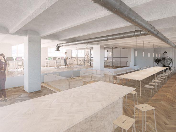 DAP group, Office Space, (conceptual furnishing) Stockholm, PS,  Interior design, Scandinavian design, 3D visualisation, render, archive, PS, 3Ds Max, modern design, styling
