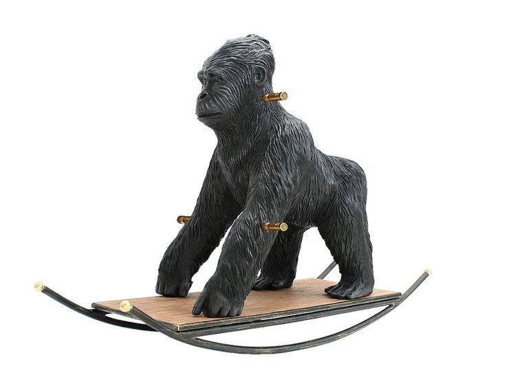JBRA020 - Antique Tarzan Gorilla Rocking Animal - JBRA020 - Antique Tarzan Gorilla Rocking Animal.jpg