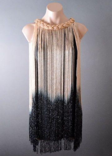 Para-Mujer-Cocktail-Ombre-Flecos-Anos-20-Flapper-Gran-Gatsby-tema-Vestido-De-Fiesta-S-M-L